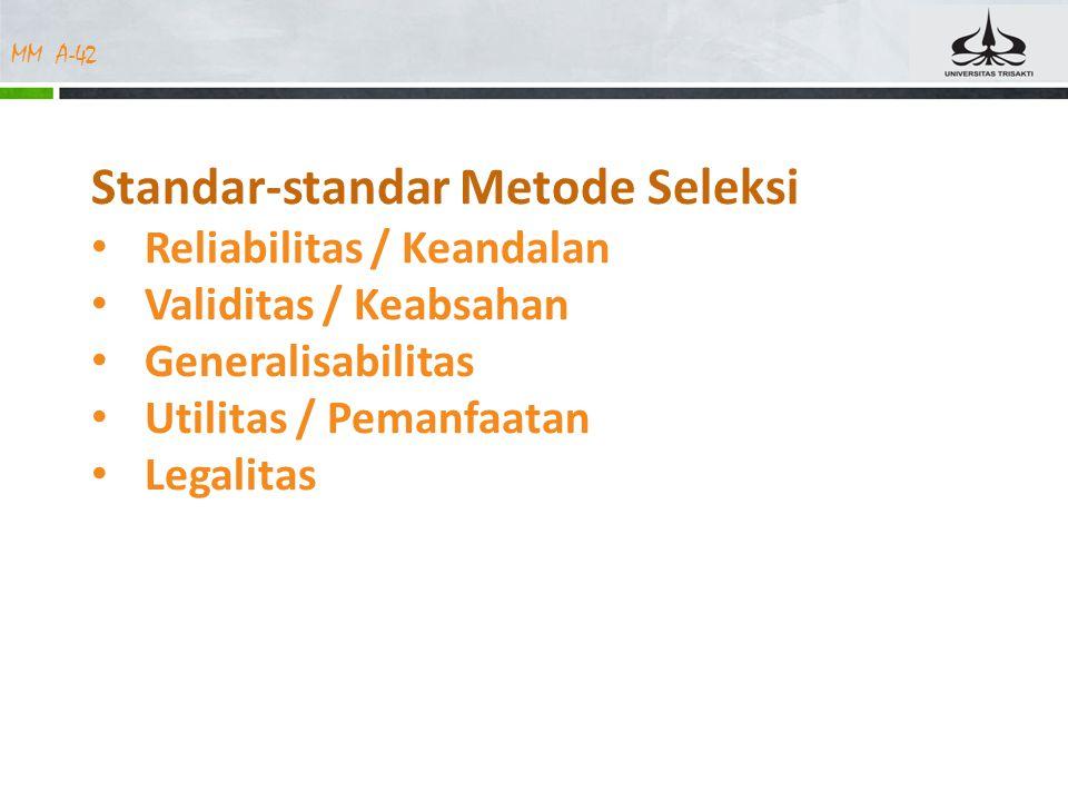 Standar-standar Metode Seleksi
