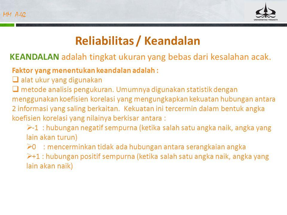 Reliabilitas / Keandalan