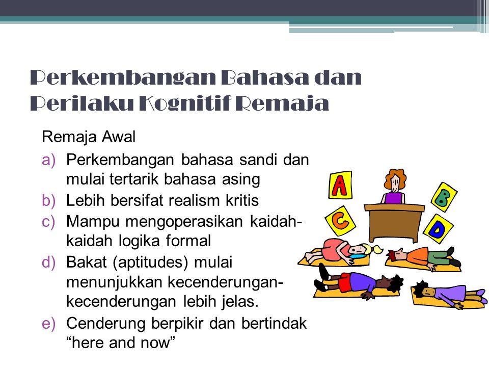 Perkembangan Bahasa dan Perilaku Kognitif Remaja