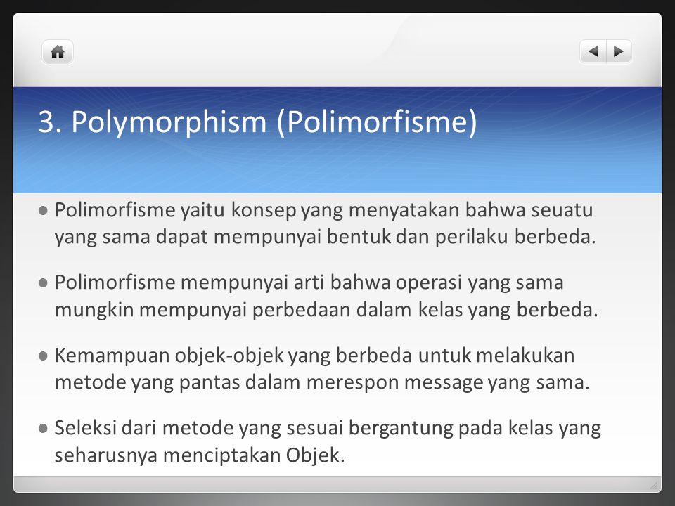 3. Polymorphism (Polimorfisme)
