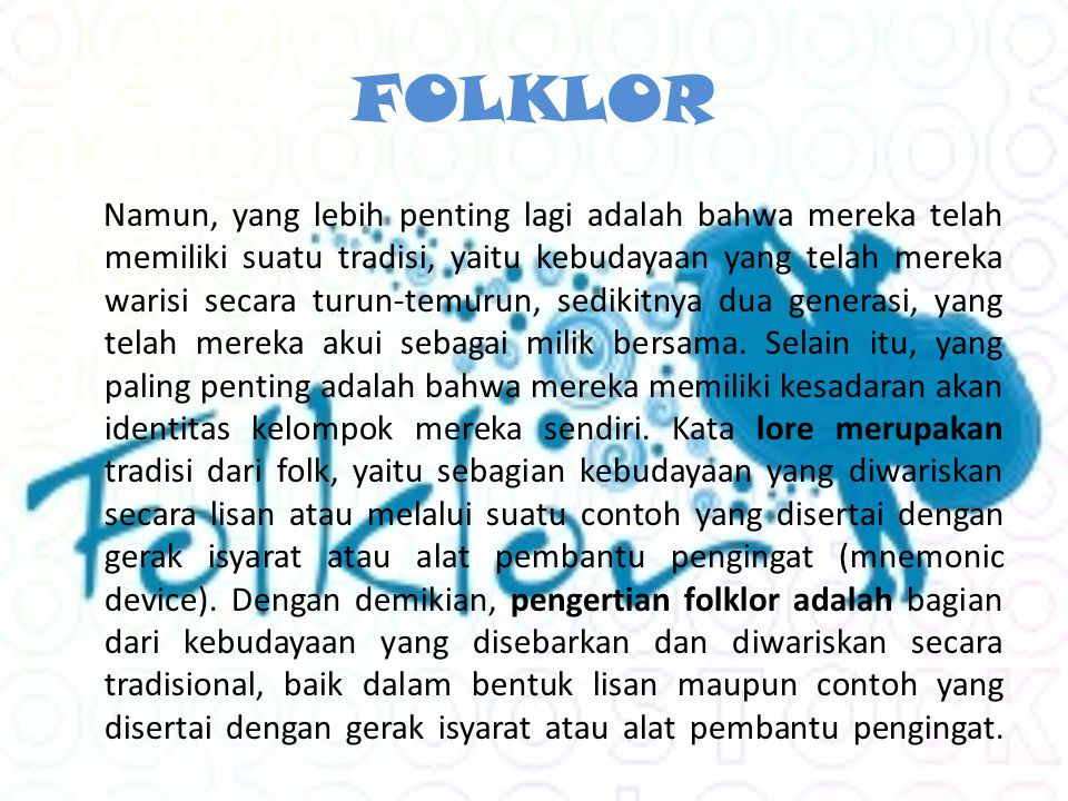 FOLKLOR
