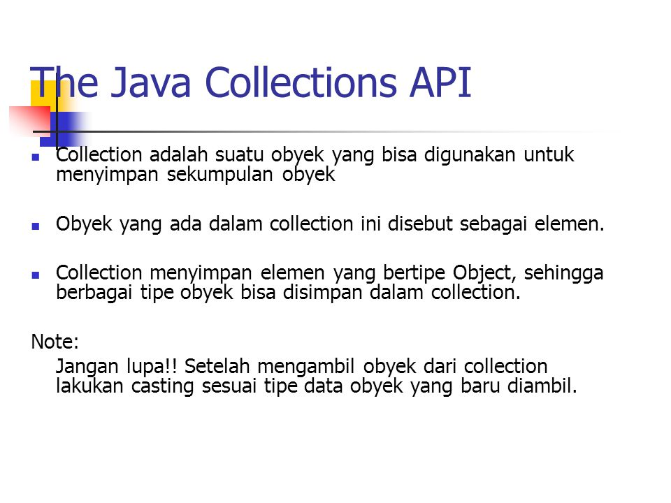 The Java Collections API