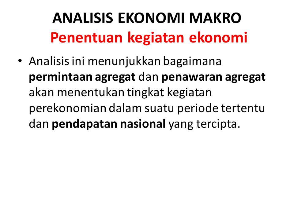 ANALISIS EKONOMI MAKRO Penentuan kegiatan ekonomi