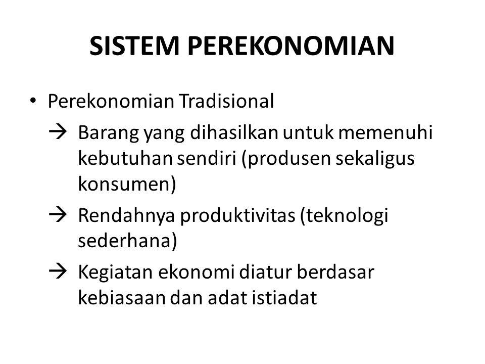 SISTEM PEREKONOMIAN Perekonomian Tradisional