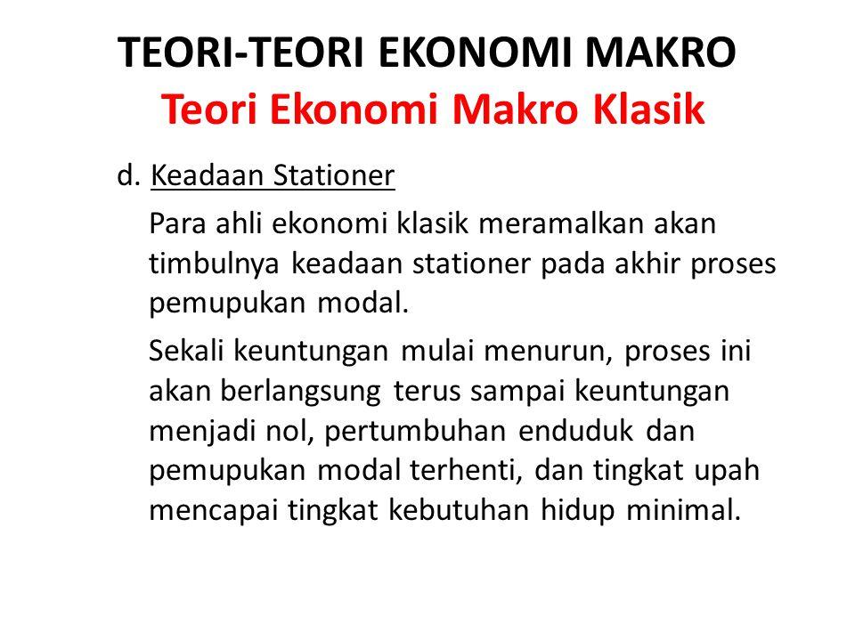 TEORI-TEORI EKONOMI MAKRO Teori Ekonomi Makro Klasik