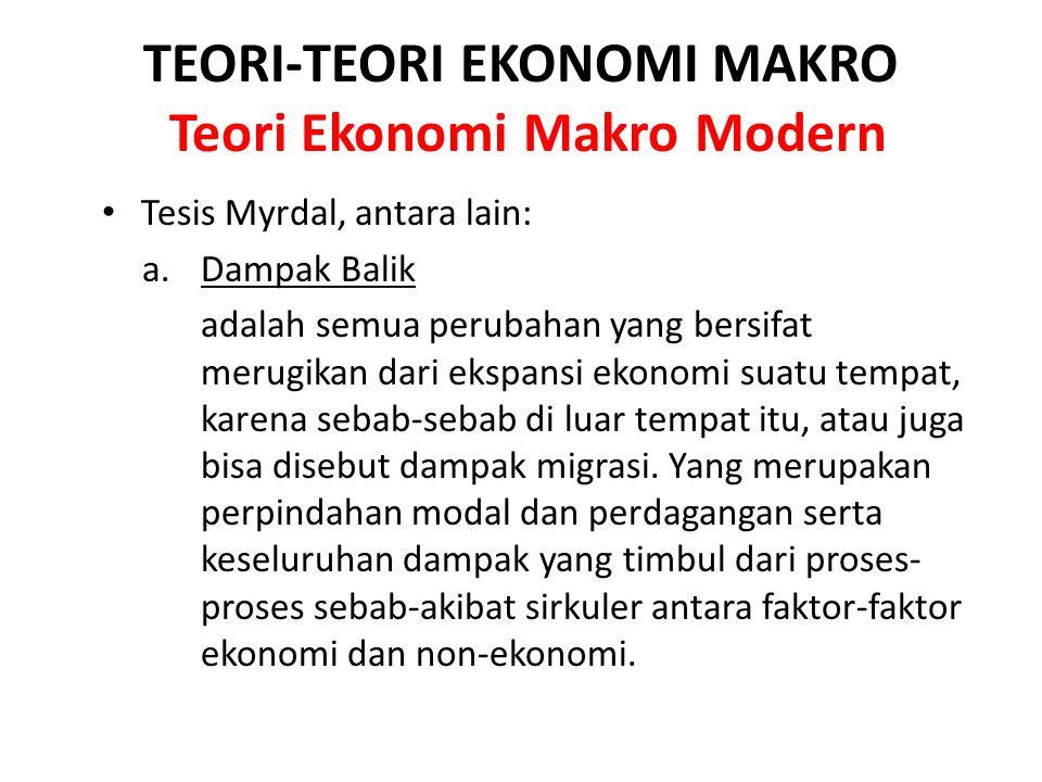 TEORI-TEORI EKONOMI MAKRO Teori Ekonomi Makro Modern