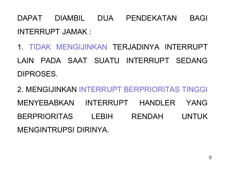 DAPAT DIAMBIL DUA PENDEKATAN BAGI INTERRUPT JAMAK :