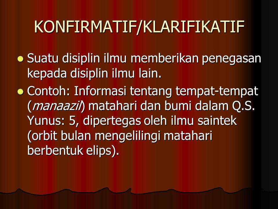 KONFIRMATIF/KLARIFIKATIF