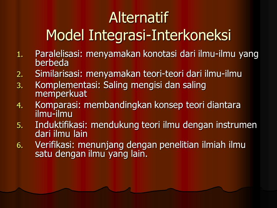 Alternatif Model Integrasi-Interkoneksi
