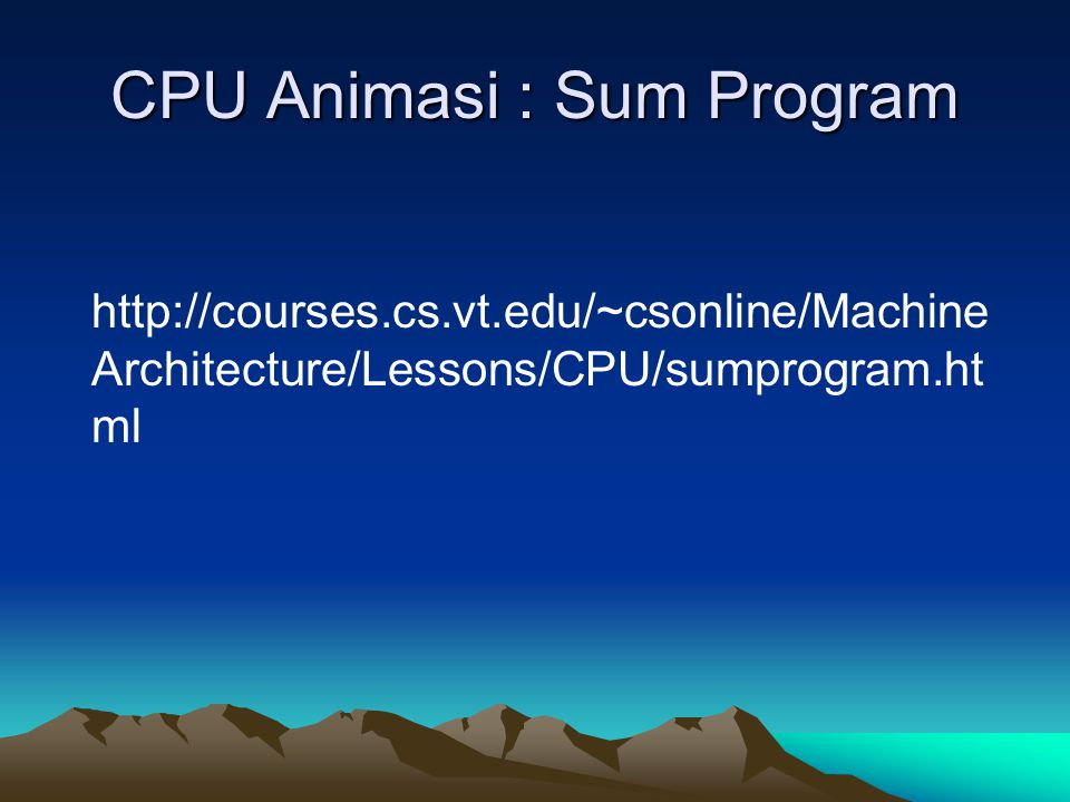 CPU Animasi : Sum Program