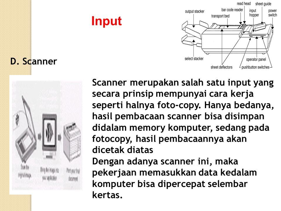 Input D. Scanner.