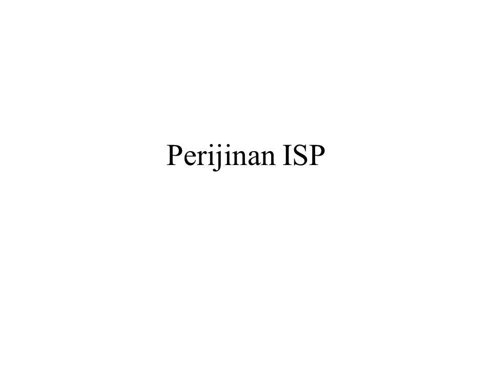 Perijinan ISP