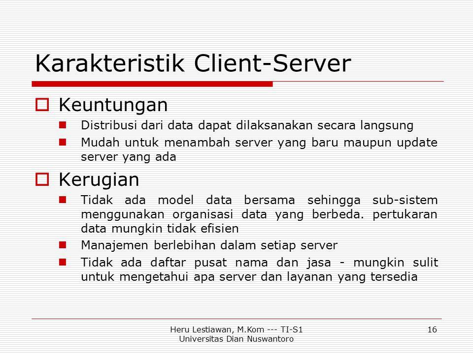 Karakteristik Client-Server
