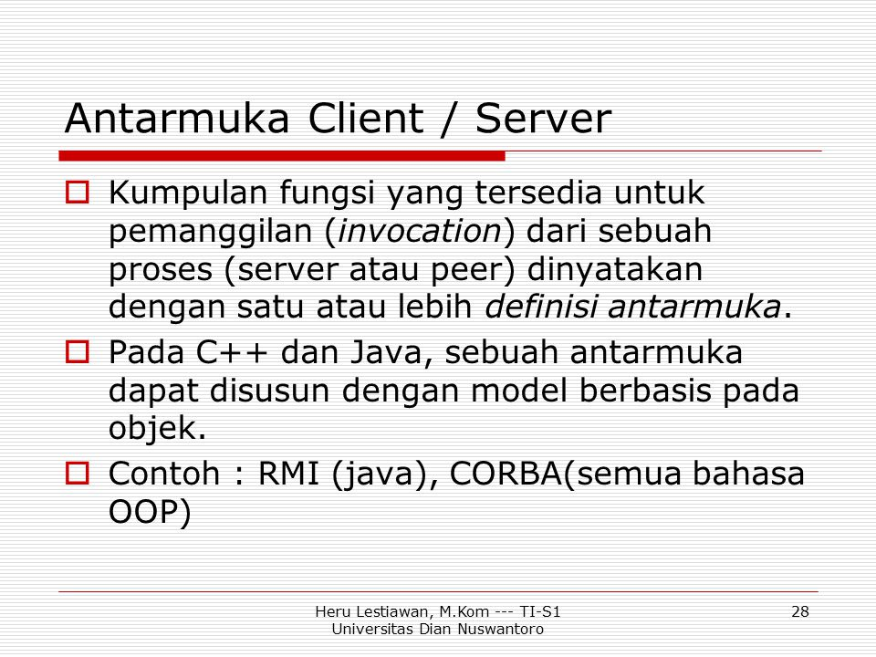 Antarmuka Client / Server