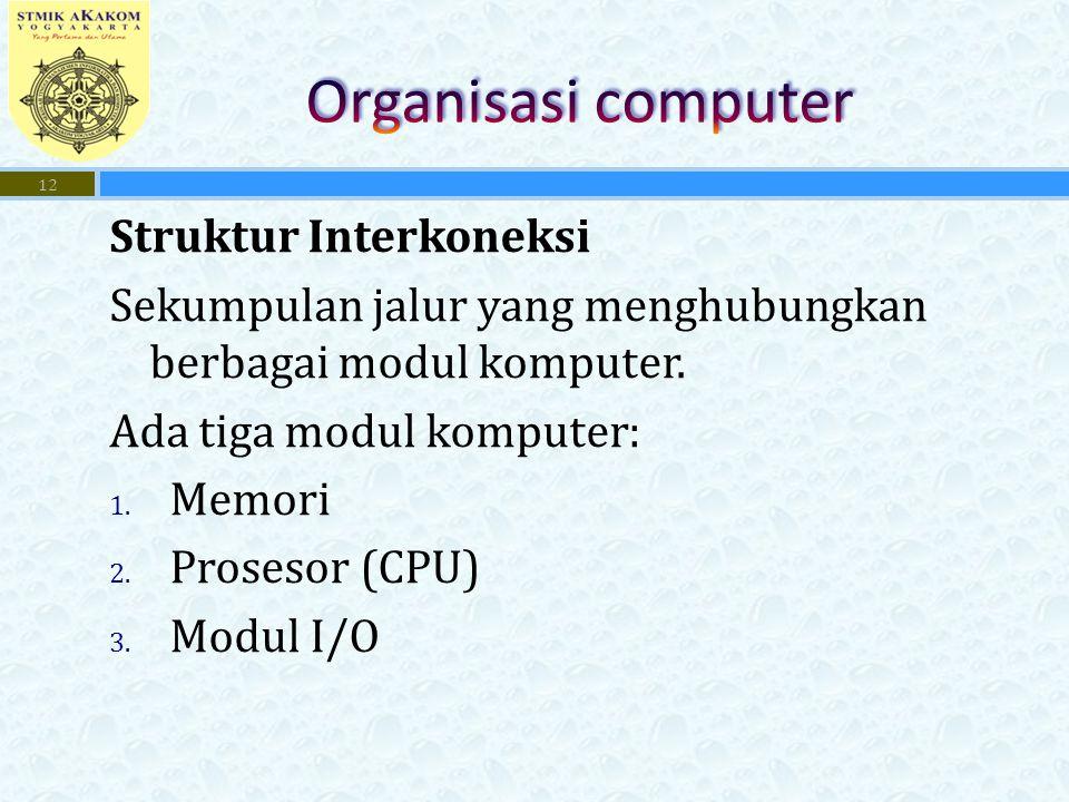 Organisasi computer Struktur Interkoneksi