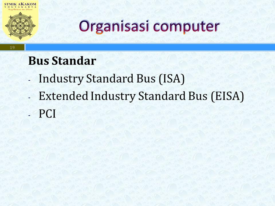 Organisasi computer Bus Standar Industry Standard Bus (ISA)