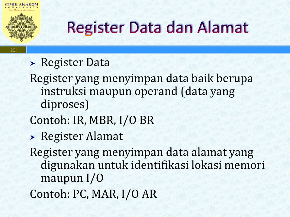 Register Data dan Alamat