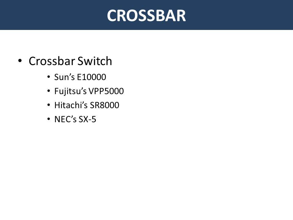 CROSSBAR Crossbar Switch Sun's E10000 Fujitsu's VPP5000