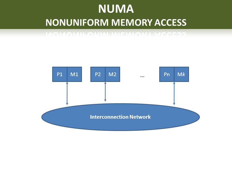 NUMA NONUNIFORM MEMORY ACCESS