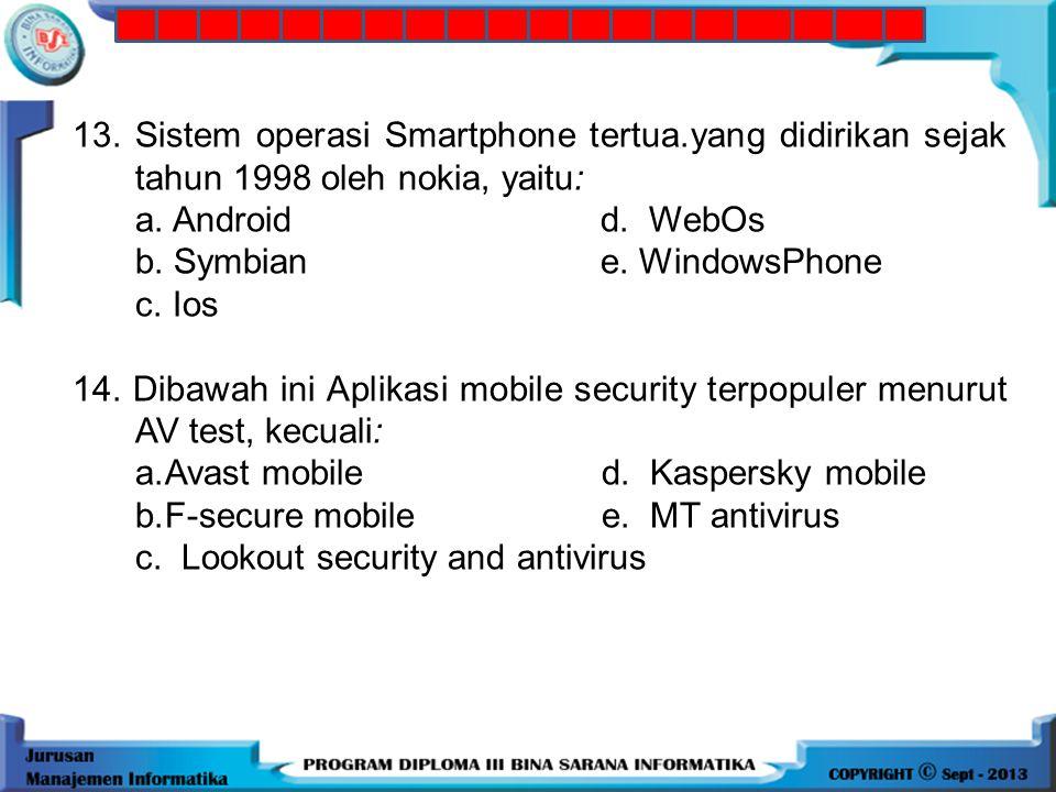13. Sistem operasi Smartphone tertua