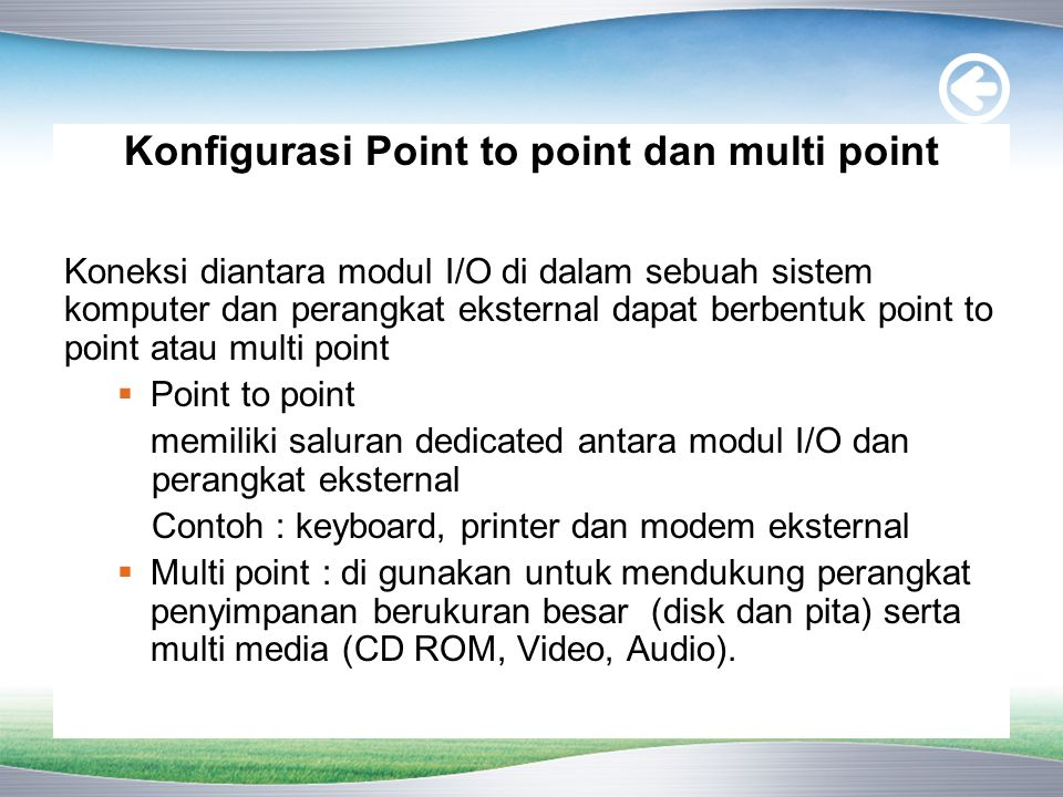 Konfigurasi Point to point dan multi point
