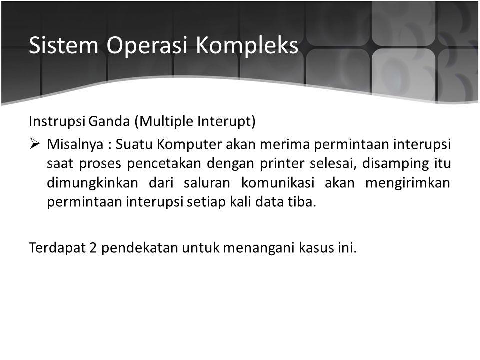 Sistem Operasi Kompleks