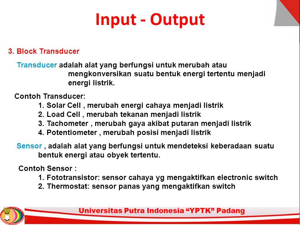 Input - Output 3. Block Transducer