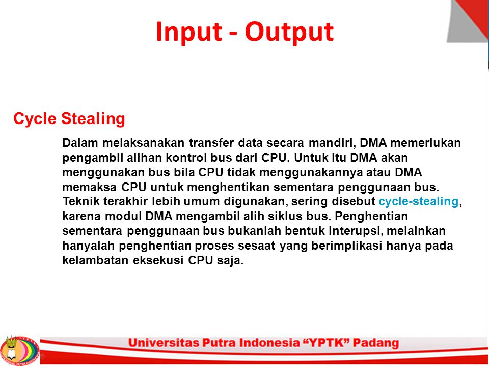 Input - Output Cycle Stealing