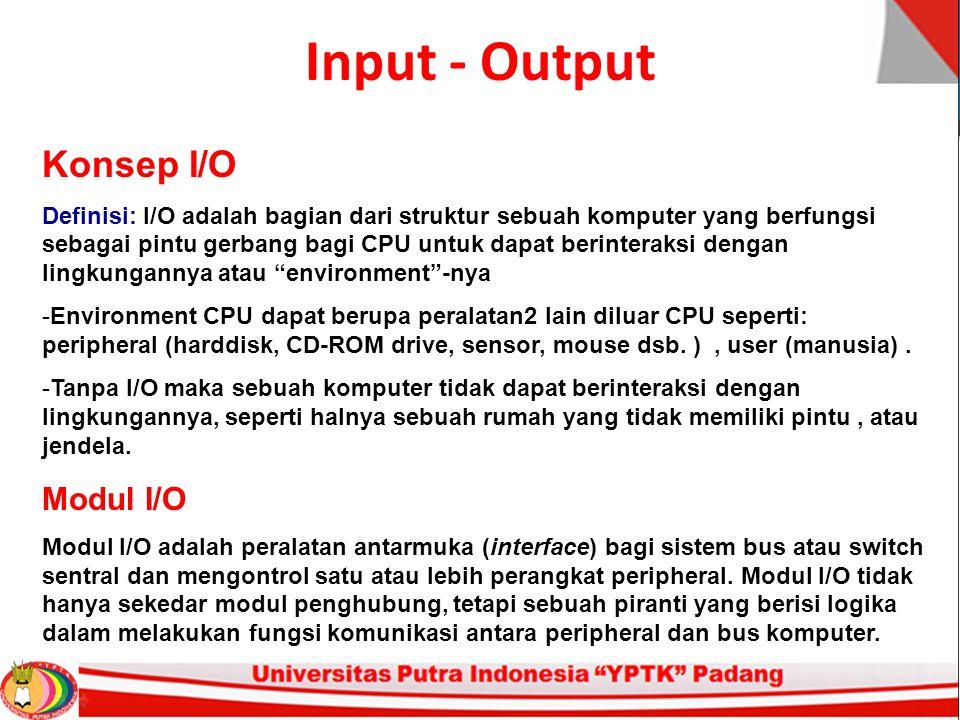 Input - Output Konsep I/O Modul I/O