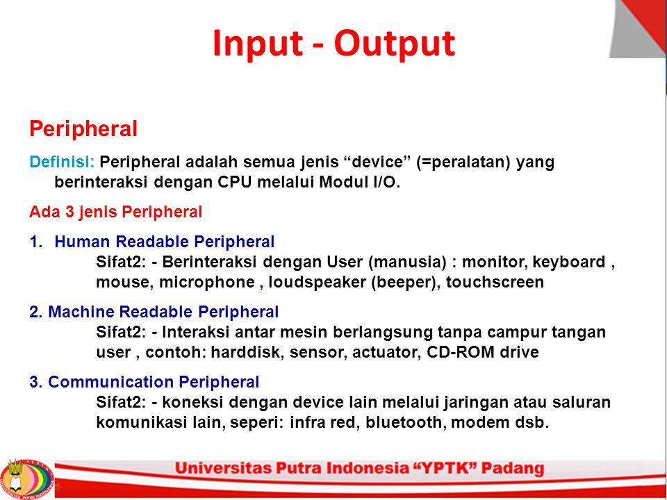 Input - Output Peripheral