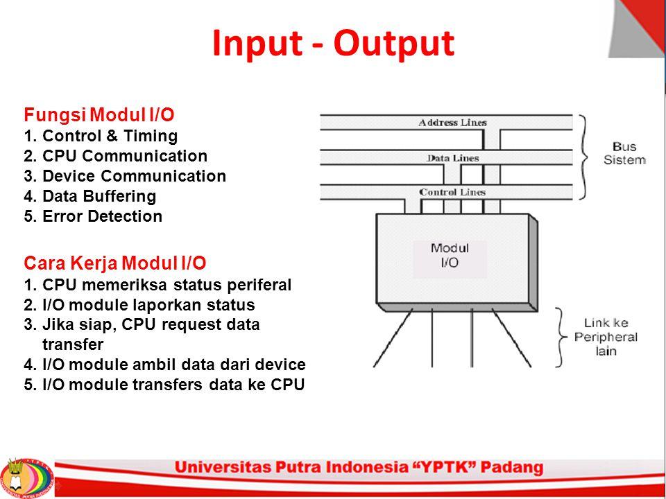 Input - Output Fungsi Modul I/O Cara Kerja Modul I/O