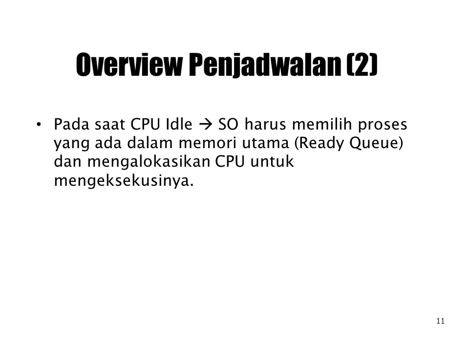 Overview Penjadwalan (2)