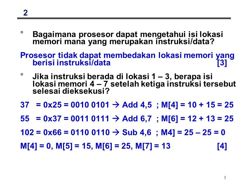 2 Bagaimana prosesor dapat mengetahui isi lokasi memori mana yang merupakan instruksi/data