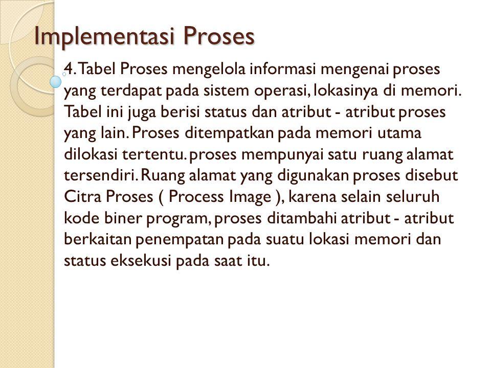 Implementasi Proses