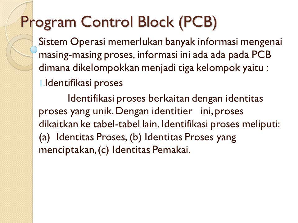 Program Control Block (PCB)