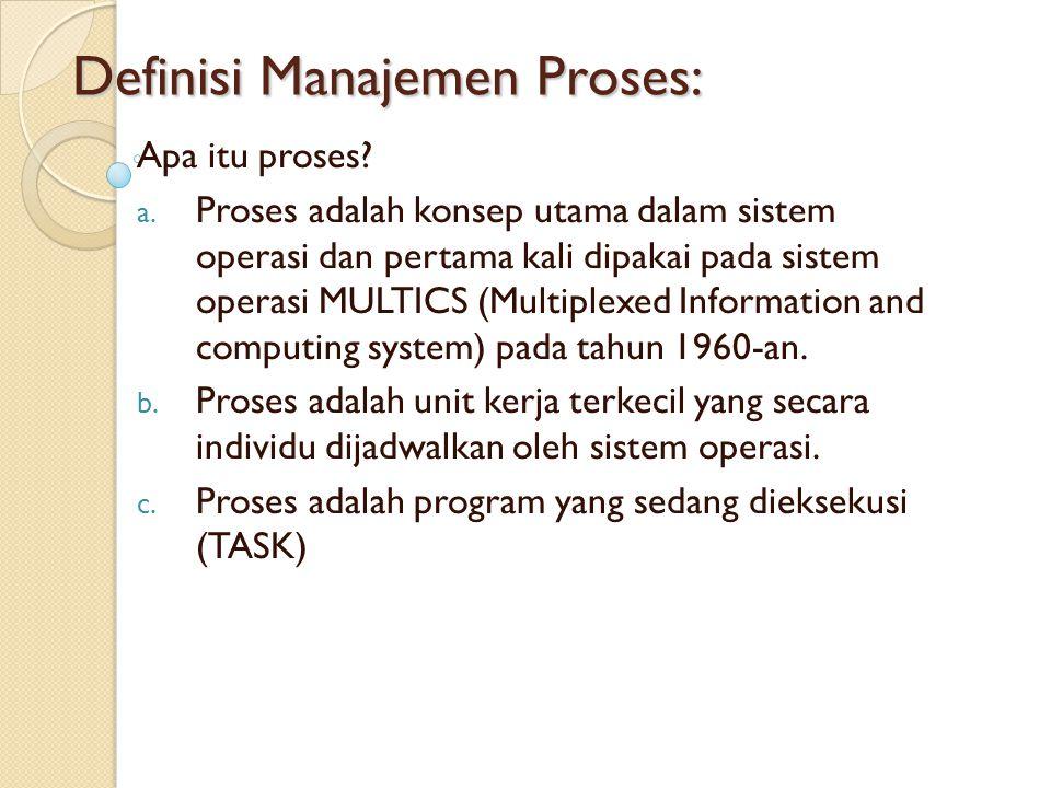 Definisi Manajemen Proses: