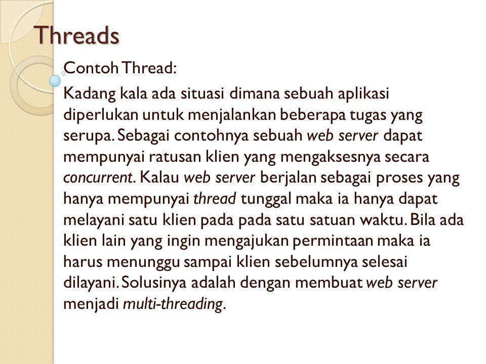 Threads Contoh Thread: