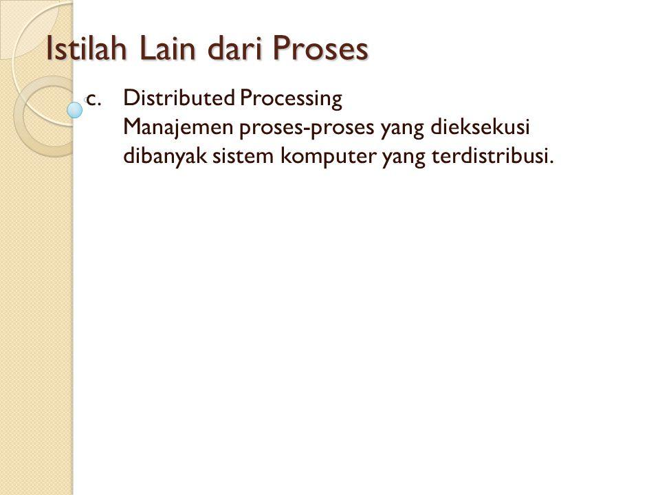 Istilah Lain dari Proses