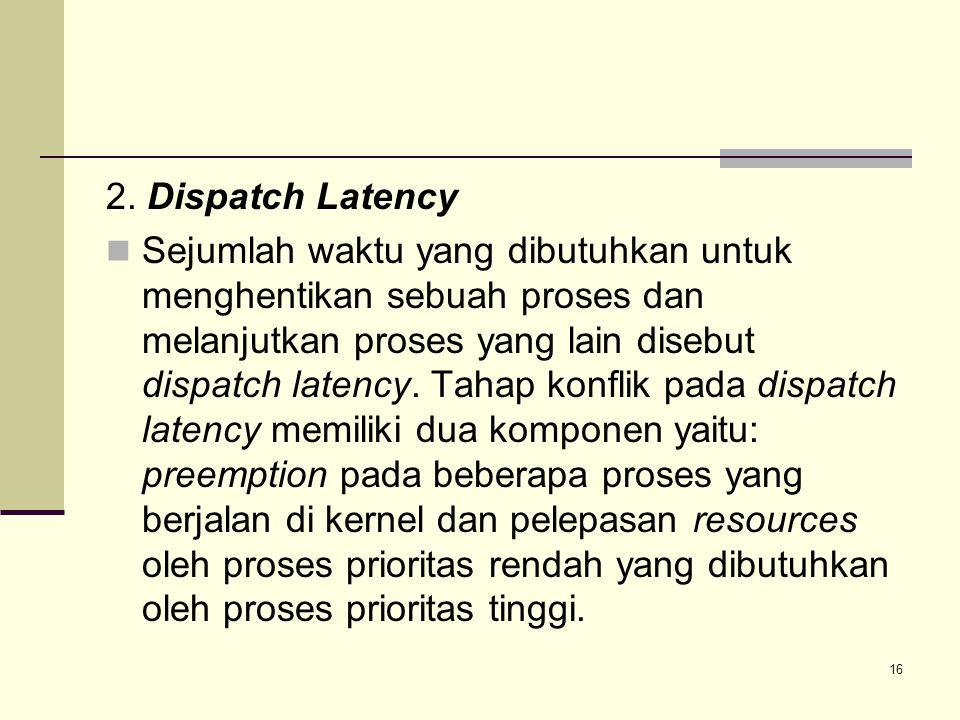2. Dispatch Latency