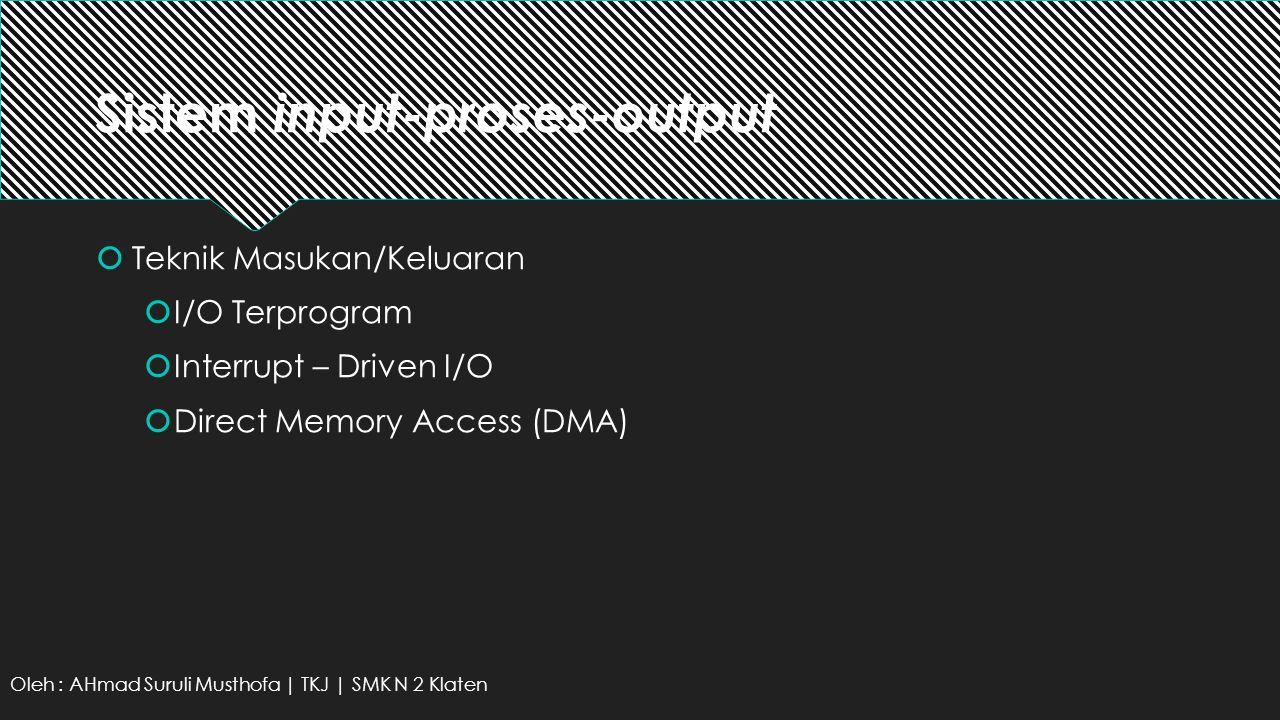 Sistem input-proses-output