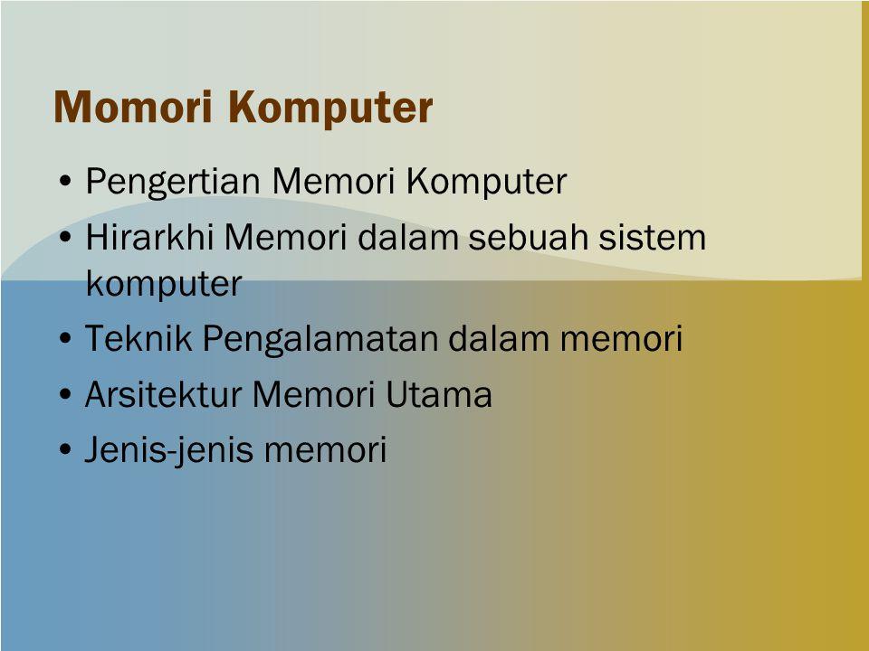 Momori Komputer Pengertian Memori Komputer