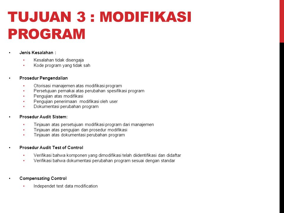Tujuan 3 : modifikasi program