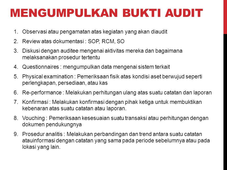 mengumpulkan bukti audit