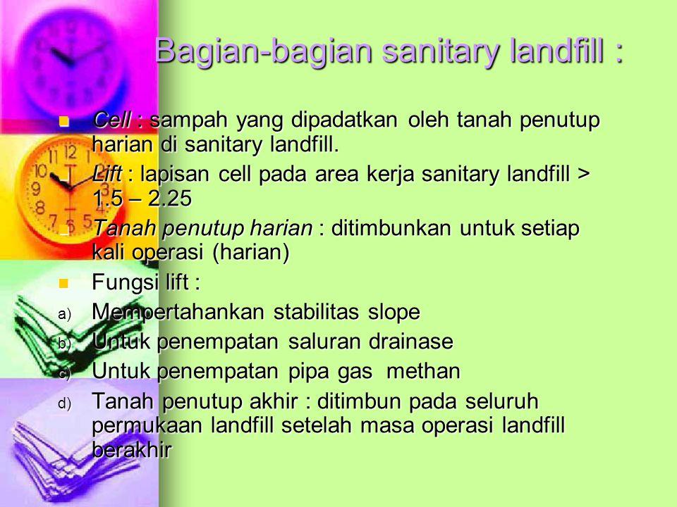 Bagian-bagian sanitary landfill :