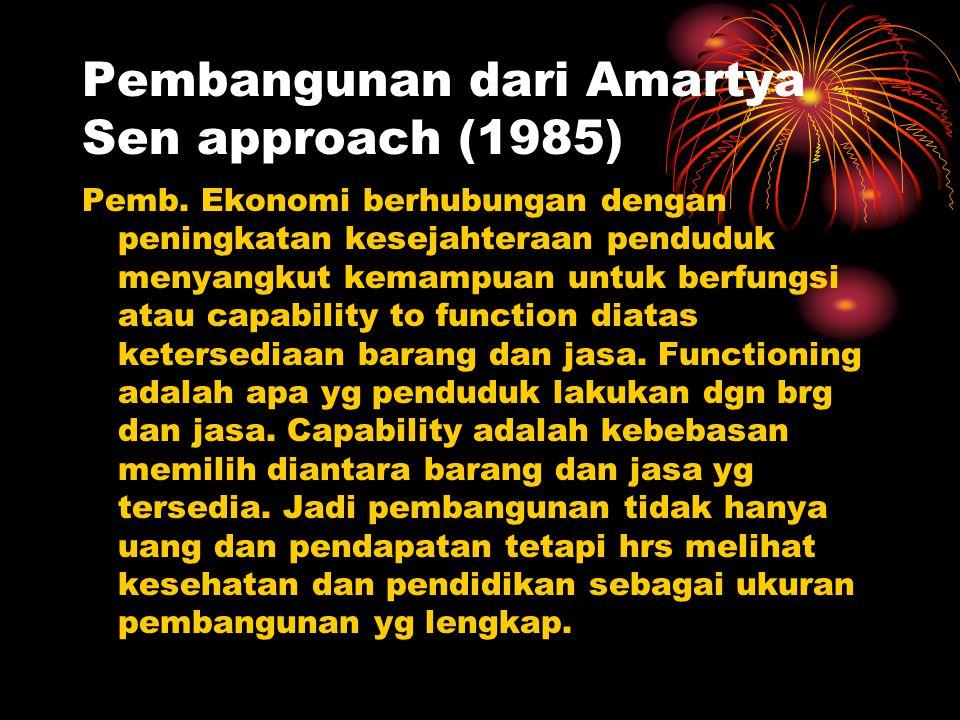 Pembangunan dari Amartya Sen approach (1985)