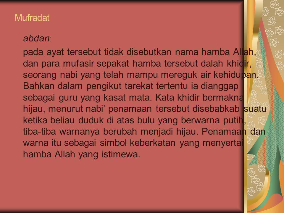 Mufradat abdan: