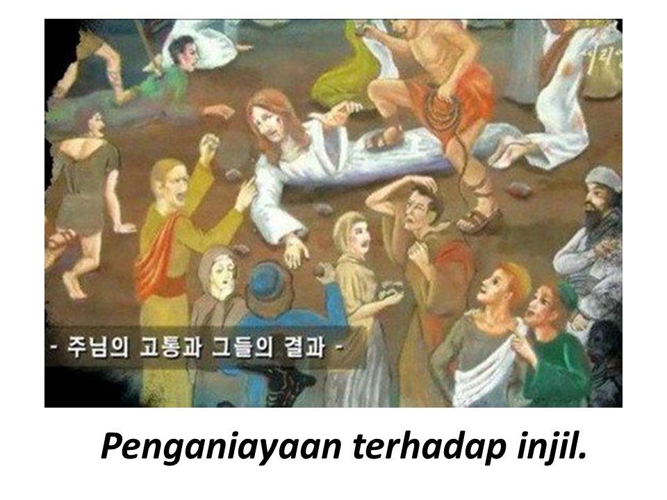Penganiayaan terhadap injil.