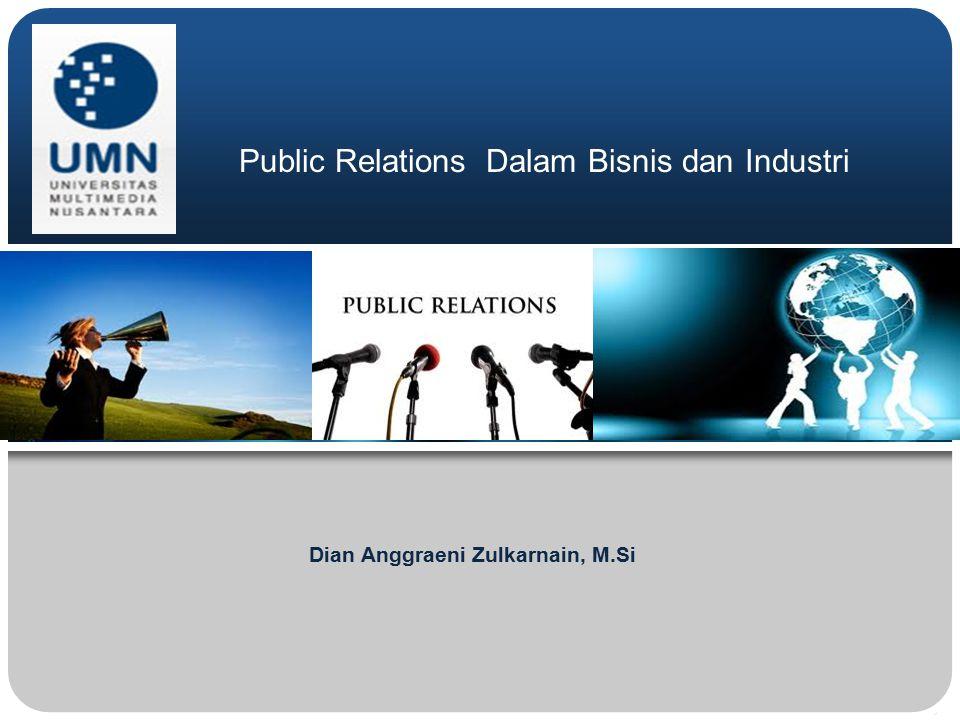 Public Relations Dalam Bisnis dan Industri