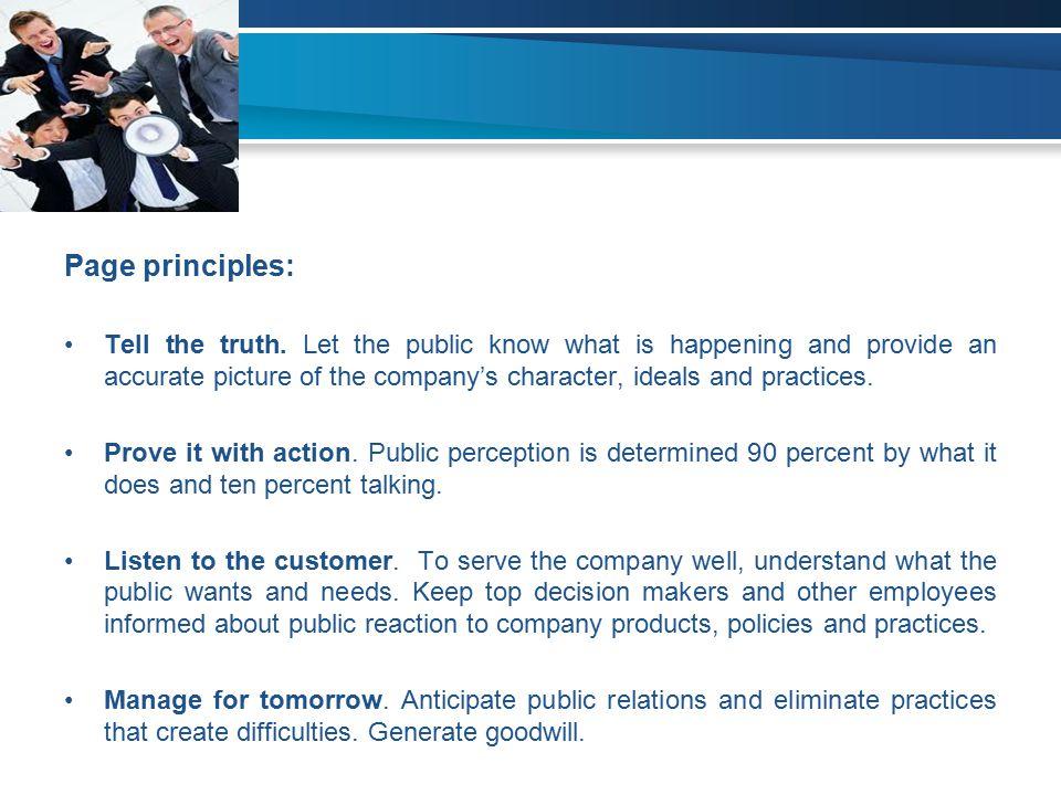 Page principles: