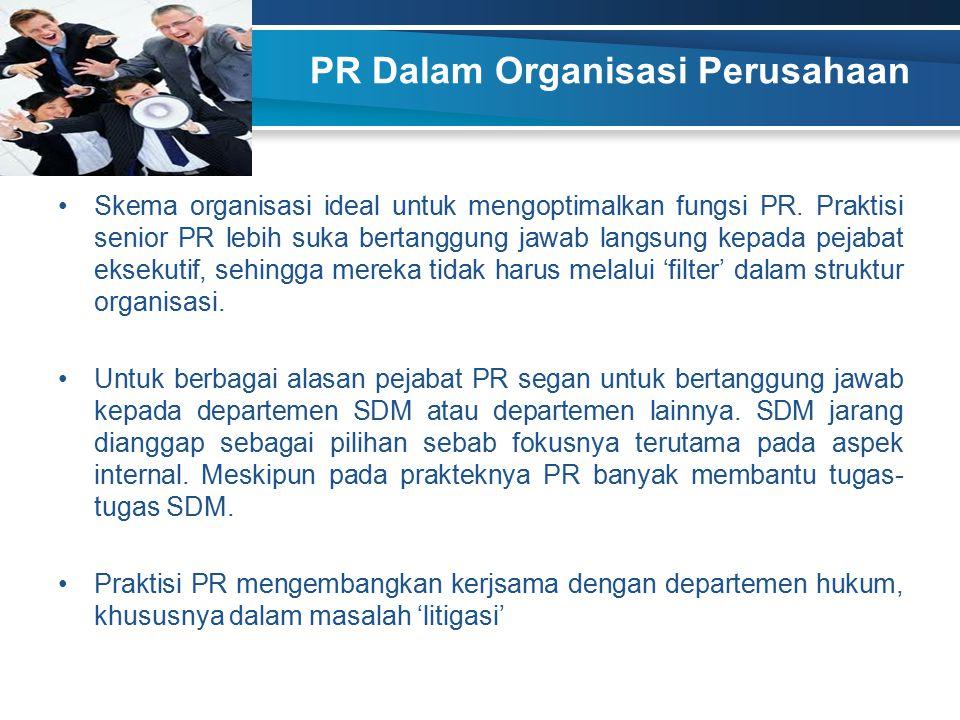 PR Dalam Organisasi Perusahaan